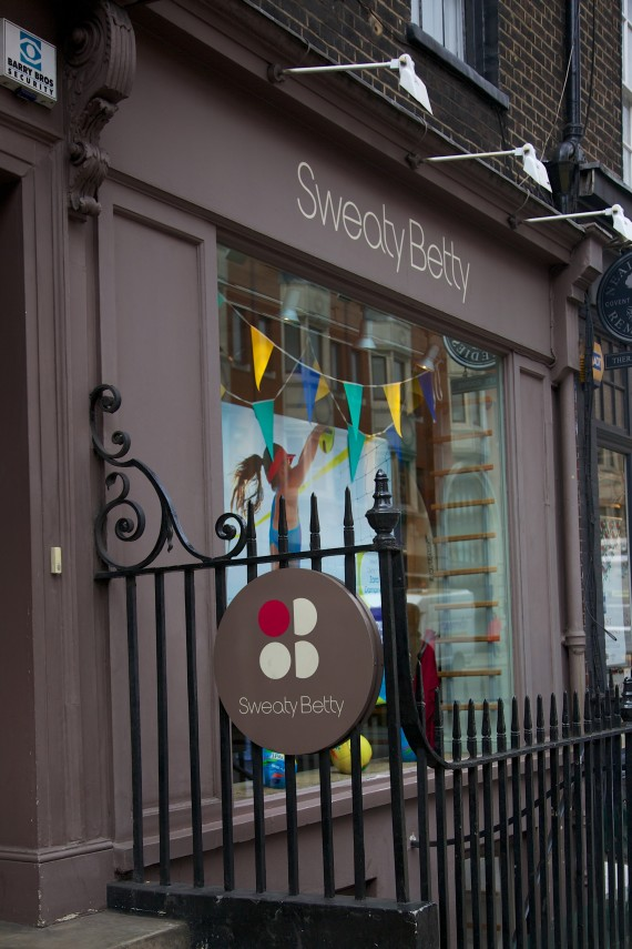 Sweaty Betty at High Street Kensington. One of their eighteen locations in London.