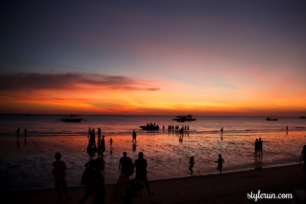 SUNSET STROLL ALONG WHITE BEACH IN BORACAY